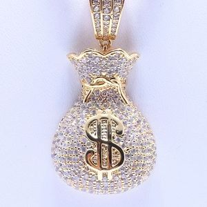 "Other - Icy Money Bag Pendant + 20"" Rope Chain"